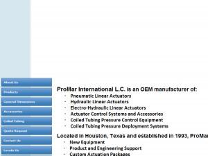 PROMAR INTERNATIONAL MFG  LLC - Houston, TX - Fluid Power Cylinders